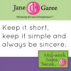 Thumbnail image for Mid Week Sales Tweak: Short, Simple and Sincere