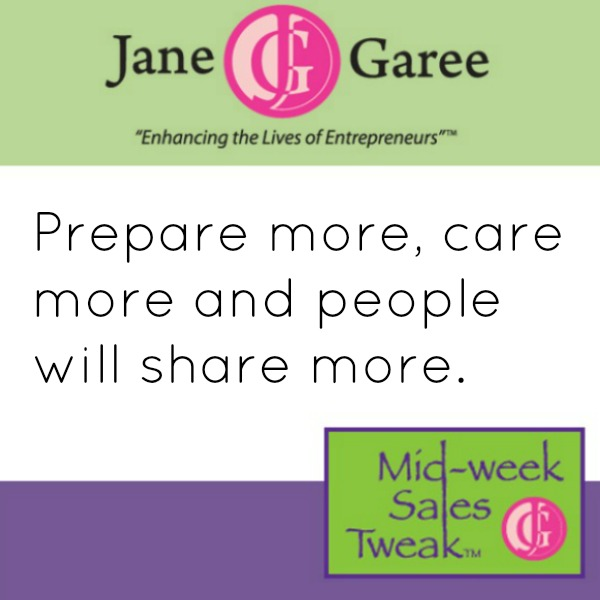 Prepare more, care more and people will share more.